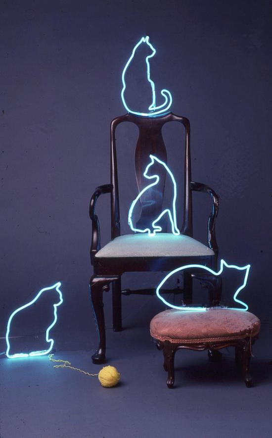 Cats At Play Neon Art Neon Sculptures Neon Signs Neon